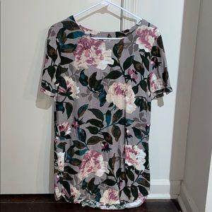 NWOT Floral Linen T-Shirt Dress